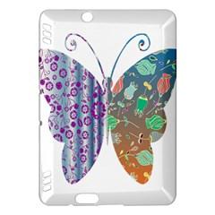 Vintage Style Floral Butterfly Kindle Fire Hdx Hardshell Case