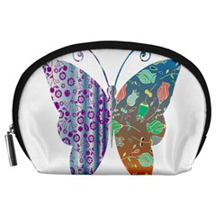 Vintage Style Floral Butterfly Accessory Pouches (large)
