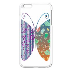 Vintage Style Floral Butterfly Apple Iphone 6 Plus/6s Plus Enamel White Case