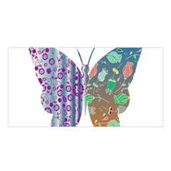 Vintage Style Floral Butterfly Satin Shawl