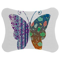 Vintage Style Floral Butterfly Jigsaw Puzzle Photo Stand (bow)