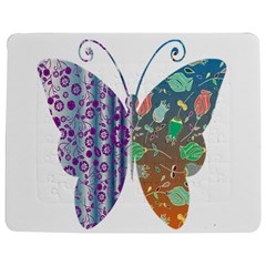 Vintage Style Floral Butterfly Jigsaw Puzzle Photo Stand (rectangular)