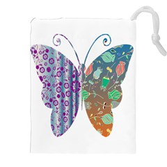 Vintage Style Floral Butterfly Drawstring Pouches (xxl)