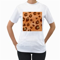 Seamless Tile Background Abstract Women s T Shirt (white) (two Sided)