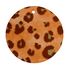 Seamless Tile Background Abstract Round Ornament (two Sides)