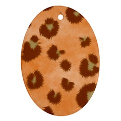Seamless Tile Background Abstract Oval Ornament (two Sides)