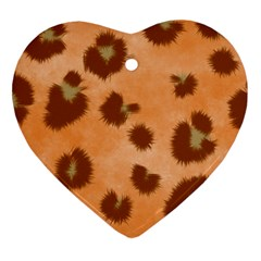 Seamless Tile Background Abstract Heart Ornament (two Sides)