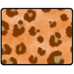 Seamless Tile Background Abstract Double Sided Fleece Blanket (medium)