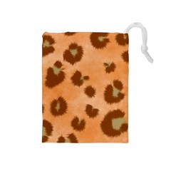 Seamless Tile Background Abstract Drawstring Pouches (medium)
