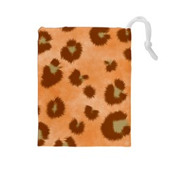 Seamless Tile Background Abstract Drawstring Pouches (large)