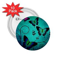 Texture Butterflies Background 2 25  Buttons (10 Pack)