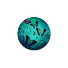 Texture Butterflies Background Golf Ball Marker (4 Pack)