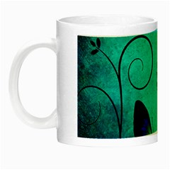 Texture Butterflies Background Night Luminous Mugs