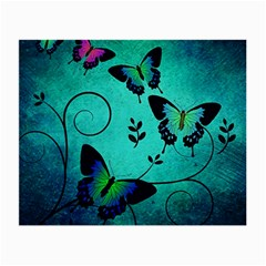 Texture Butterflies Background Small Glasses Cloth