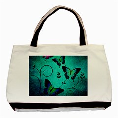 Texture Butterflies Background Basic Tote Bag