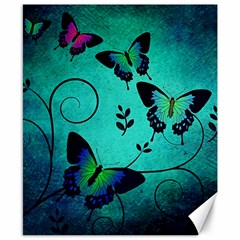 Texture Butterflies Background Canvas 8  x 10