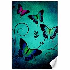 Texture Butterflies Background Canvas 20  X 30
