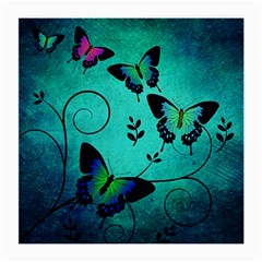 Texture Butterflies Background Medium Glasses Cloth (2 Side)
