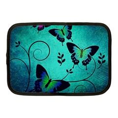 Texture Butterflies Background Netbook Case (medium)