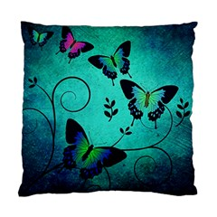 Texture Butterflies Background Standard Cushion Case (two Sides)