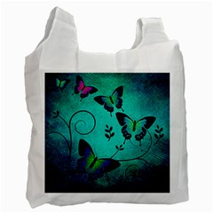 Texture Butterflies Background Recycle Bag (one Side)