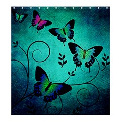 Texture Butterflies Background Shower Curtain 66  X 72  (large)