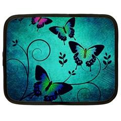 Texture Butterflies Background Netbook Case (xxl)