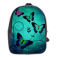 Texture Butterflies Background School Bags(Large)