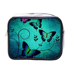 Texture Butterflies Background Mini Toiletries Bags