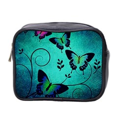 Texture Butterflies Background Mini Toiletries Bag 2 Side