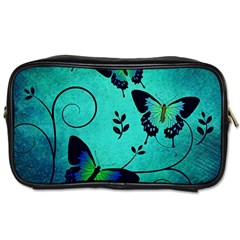 Texture Butterflies Background Toiletries Bags 2 Side