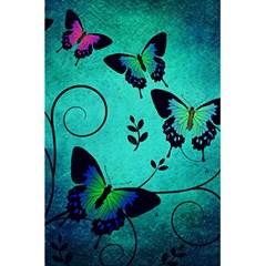 Texture Butterflies Background 5.5  x 8.5  Notebooks