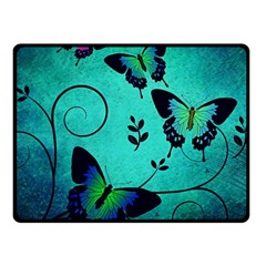 Texture Butterflies Background Fleece Blanket (small)