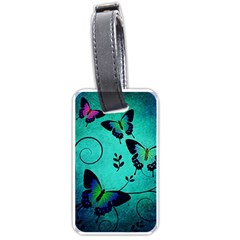 Texture Butterflies Background Luggage Tags (one Side)