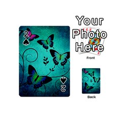 Texture Butterflies Background Playing Cards 54 (mini)