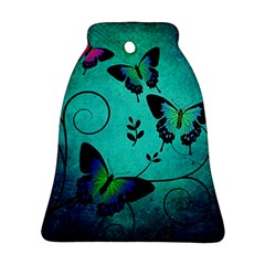 Texture Butterflies Background Bell Ornament (two Sides)