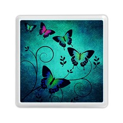 Texture Butterflies Background Memory Card Reader (square)