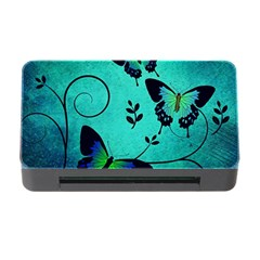 Texture Butterflies Background Memory Card Reader With Cf