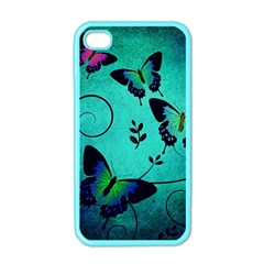 Texture Butterflies Background Apple Iphone 4 Case (color)