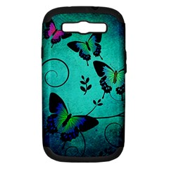 Texture Butterflies Background Samsung Galaxy S Iii Hardshell Case (pc+silicone)