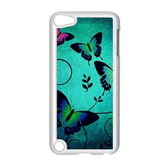 Texture Butterflies Background Apple Ipod Touch 5 Case (white)