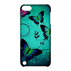 Texture Butterflies Background Apple Ipod Touch 5 Hardshell Case With Stand