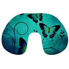 Texture Butterflies Background Travel Neck Pillows