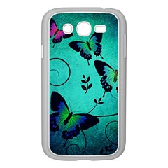 Texture Butterflies Background Samsung Galaxy Grand Duos I9082 Case (white)