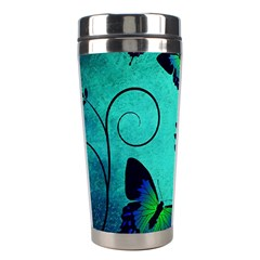 Texture Butterflies Background Stainless Steel Travel Tumblers