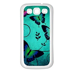 Texture Butterflies Background Samsung Galaxy S3 Back Case (white)