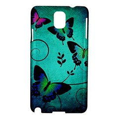 Texture Butterflies Background Samsung Galaxy Note 3 N9005 Hardshell Case