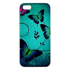 Texture Butterflies Background Iphone 5s/ Se Premium Hardshell Case