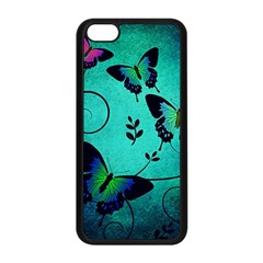 Texture Butterflies Background Apple Iphone 5c Seamless Case (black)