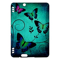 Texture Butterflies Background Kindle Fire Hdx Hardshell Case